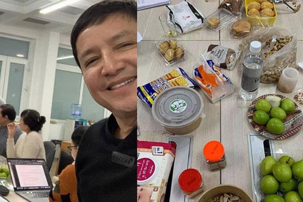 Ảnh hậu trường Táo Quân 2021 hé lộ bữa ăn vội của dàn nghệ sĩ
