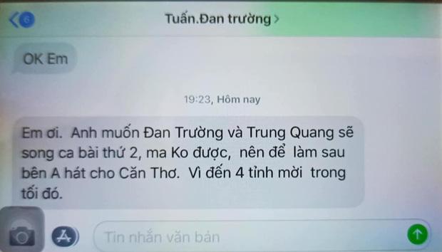 Quản lý Đan Trường bị tố lật show phút chót vì gài thêm CS Trung Quang bất thành, đăng tâm thư giải thích-4