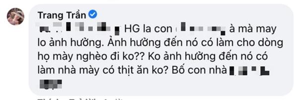 Trang Trần hưởng ứng màn đấu tố của quản lý cũ Hương Giang, gây sốc khi dùng từ ngữ thô tục để nhắc đến nàng Hậu-4
