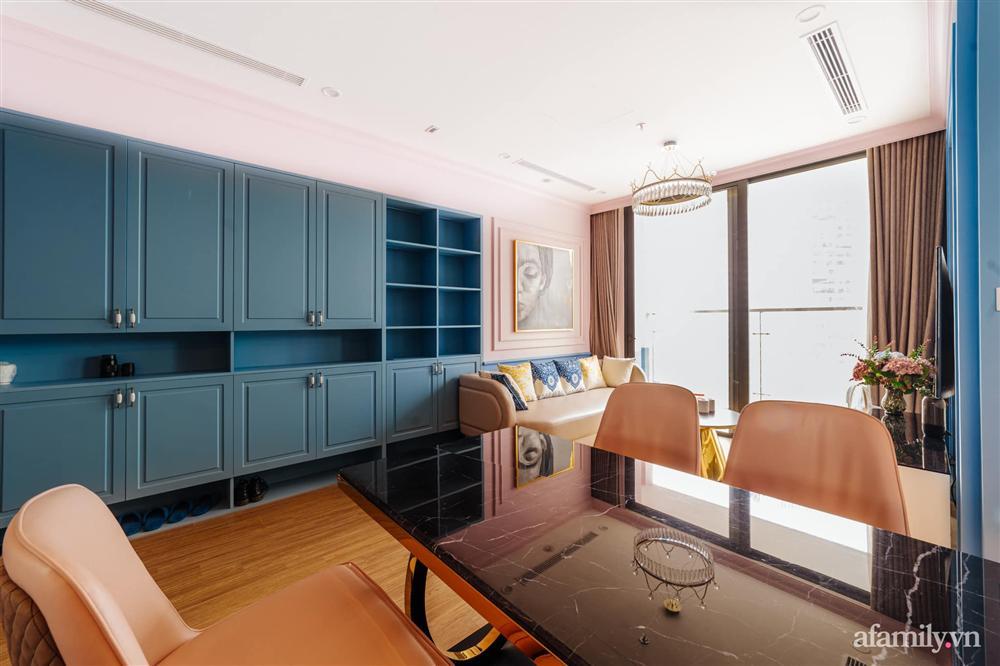 Căn hộ 45m² đẹp không góc chết với điểm nhấn là hai gam màu xanh hồng cực chất có chi phí hoàn thiện 200 triệu đồng ở Hà Nội-6