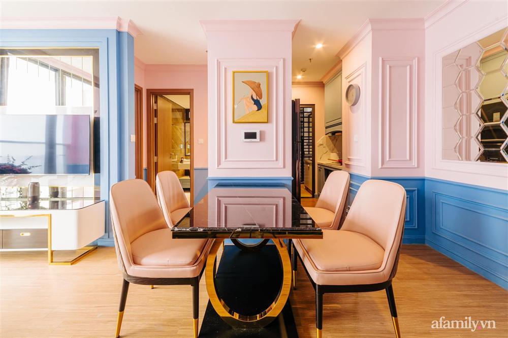 Căn hộ 45m² đẹp không góc chết với điểm nhấn là hai gam màu xanh hồng cực chất có chi phí hoàn thiện 200 triệu đồng ở Hà Nội-16