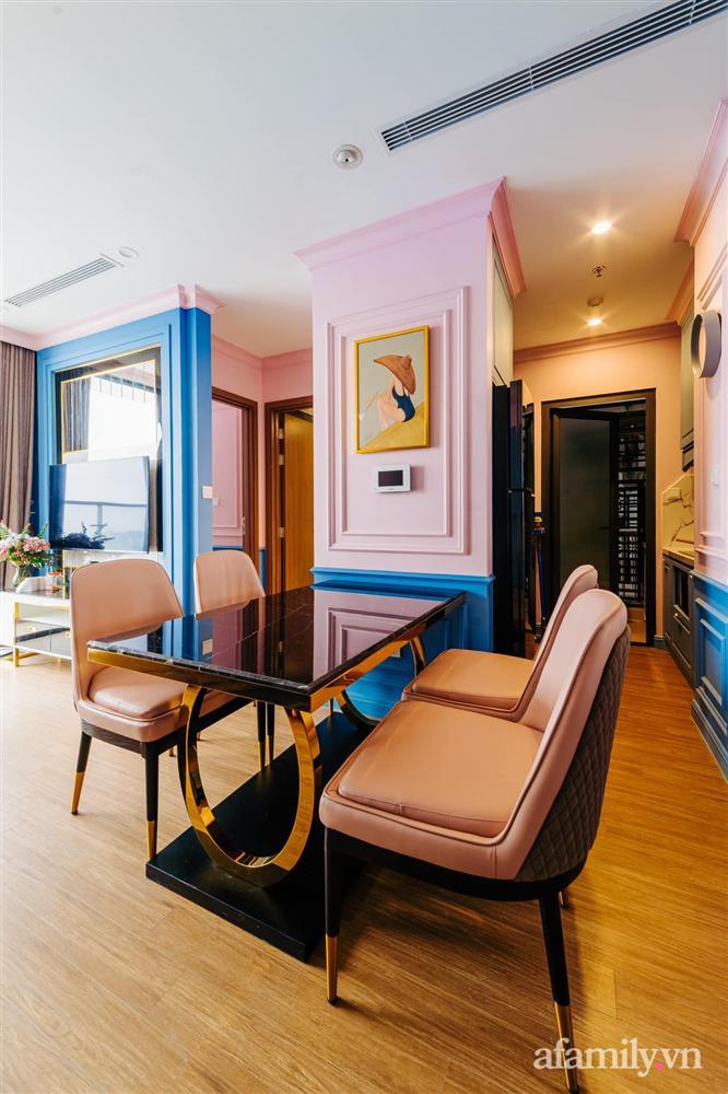 Căn hộ 45m² đẹp không góc chết với điểm nhấn là hai gam màu xanh hồng cực chất có chi phí hoàn thiện 200 triệu đồng ở Hà Nội-19