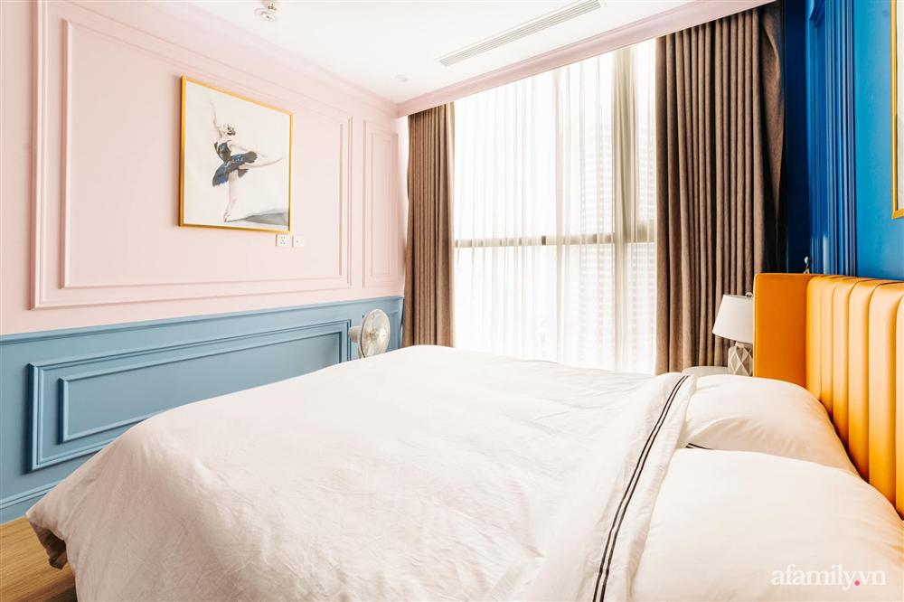Căn hộ 45m² đẹp không góc chết với điểm nhấn là hai gam màu xanh hồng cực chất có chi phí hoàn thiện 200 triệu đồng ở Hà Nội-22