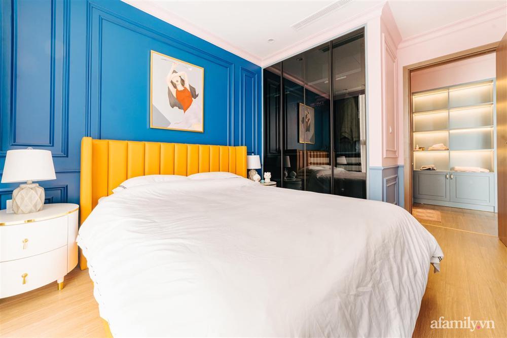 Căn hộ 45m² đẹp không góc chết với điểm nhấn là hai gam màu xanh hồng cực chất có chi phí hoàn thiện 200 triệu đồng ở Hà Nội-23