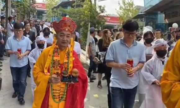 Lễ an táng ca sĩ Vân Quang Long tại Đồng Tháp: Linh Lan bật khóc cùng con gái xuất hiện ở lễ tang-9