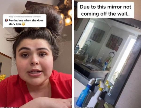 Chuyển vào nhà mới, cô gái phát hiện chiếc gương bị gắn chặt đến bất thường, không ngờ đằng sau đó là bí mật sởn da gà-1