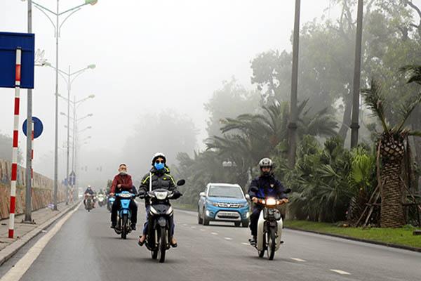 Thời tiết ngày 21/1, miền Bắc chìm trong sương mù, trời rét