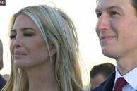 Khoảnh khắc 'nữ thần' Ivanka Trump khóc khi nghe cha nói lời chia tay gây bão, cậu út Barron không xuất hiện khiến mọi người tò mò