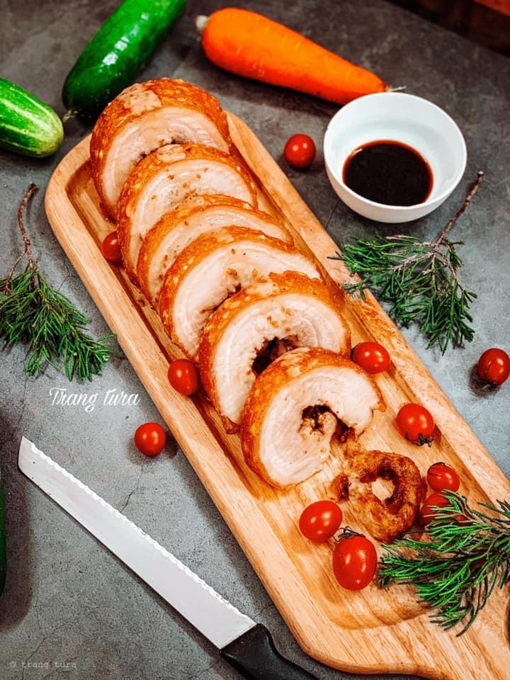 Cách làm ba chỉ cuộn quay giòn bì bên ngoài, thịt mềm mượt bên trong-2