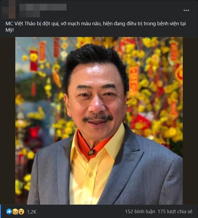 Bà xã MC hải ngoại Việt Thảo phản hồi tin đồn chồng bị đột quỵ, vỡ mạch máu não-1