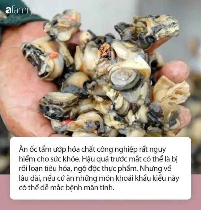 Cận Tết, 1.3 tấn thịt ốc ngâm hóa chất bị phanh phui: Chuyên gia khuyến cáo những điều cực QUAN TRỌNG khi ăn ốc-2
