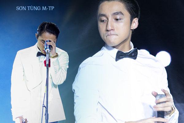 Bức ảnh Sơn Tùng M-TP cúi mặt, biểu cảm như sắp khóc đang được lan truyền chóng