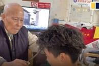 Video: Xem cụ ông 91 tuổi cắt tóc bằng thanh sắt nóng