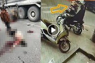 2 người phụ nữ chạy xe máy lao vào gầm xe ben, camera 'bóc' khoảnh khắc xảy ra tai nạn khiến tất cả kinh hãi