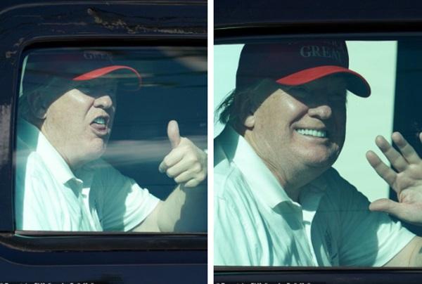 Những hình ảnh đầu tiên của ông Trump sau khi chính thức mãn nhiệm và rời khỏi Nhà Trắng, dòng chữ trên mũ ông đội thu hút sự chú ý-4