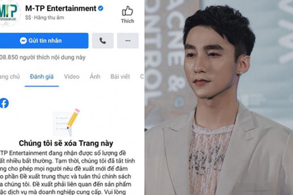 NÓNG: Rộ ảnh thông báo fanpage 300.000 follower của công ty Sơn Tùng sẽ bị xoá
