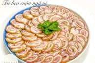 Tai heo cuộn ngũ vị: Món ngon độc đáo dễ làm cho ngày Tết