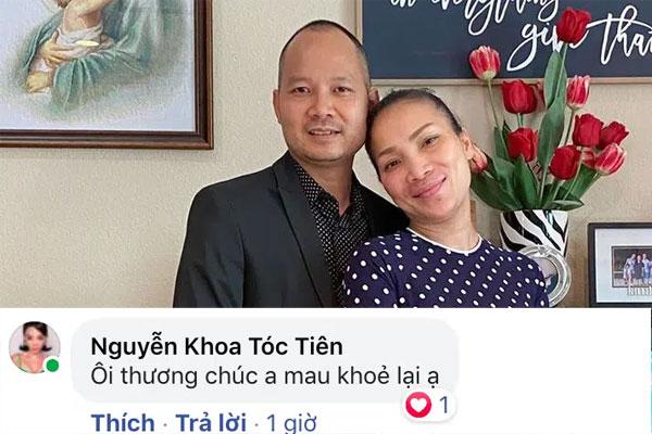 Tóc Tiên và loạt sao Vbiz động viên Chồng ca sĩ Hồng Ngọc vì nhiễm Covid-19