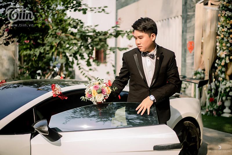 Choáng ngợp với đám cưới của Á khôi Đại học Kinh tế Quốc dân: Chú rể lái siêu xe Lamborghini 19 tỷ rước dâu-2