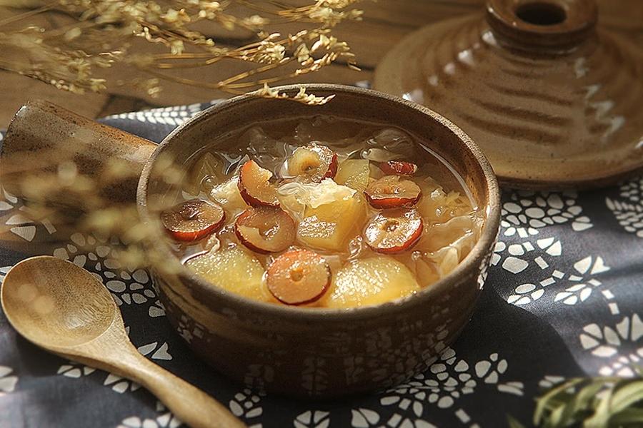 Nấu món chè này vô cùng dễ mà ăn thường xuyên thì da sáng căng mịn đến ngỡ ngàng-6