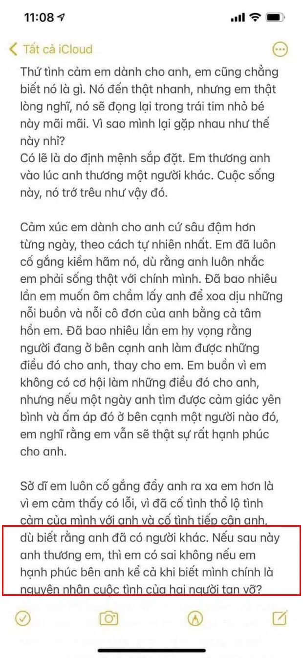 Bản full đoạn thư tình được cho là Hải Tú gửi Sơn Tùng-3