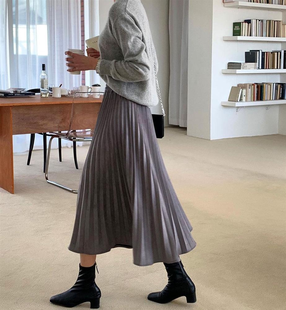 5 kiểu chân váy gái Hàn thường diện với áo len, nàng công sở nên hóng ngay để không bao giờ lo mặc xấu-9