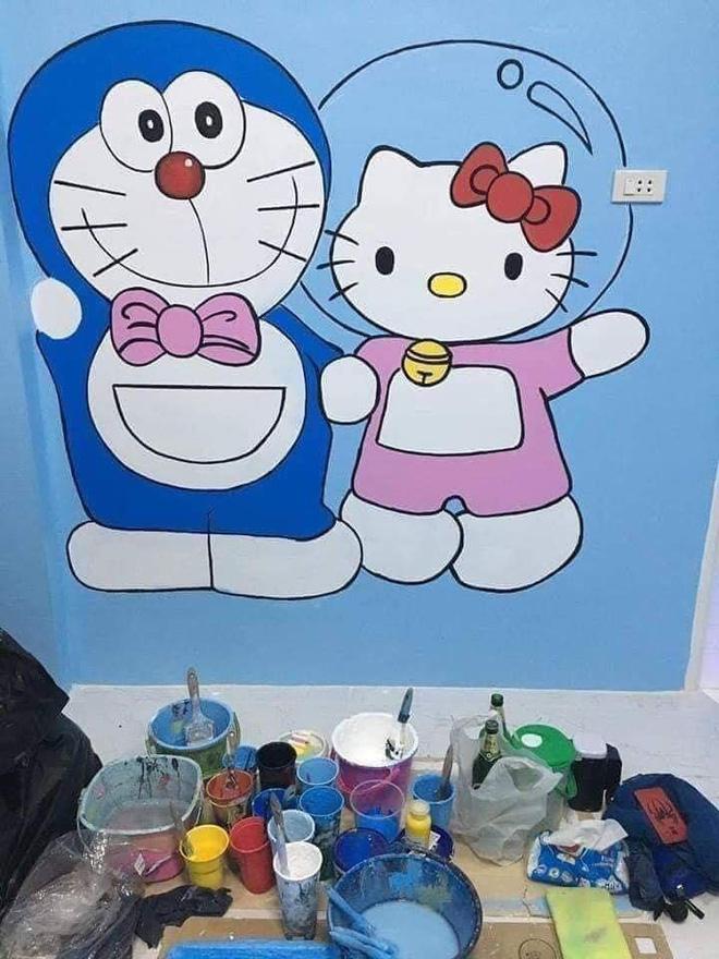 Căn nhà có gia chủ mê Doraemon khiến dân tình tranh cãi: Dễ thương hay nhố nhăng như cái vườn trẻ?-4