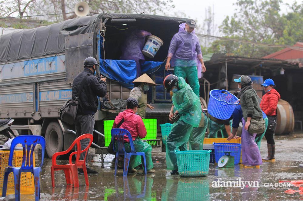 Chợ cá lớn nhất Hà Nội nhộn nhịp trước lễ ông Công ông Táo, dân buôn bở hơi tai vác cả tấn cá mỗi ngày nhưng không rời chiếc khẩu trang-1