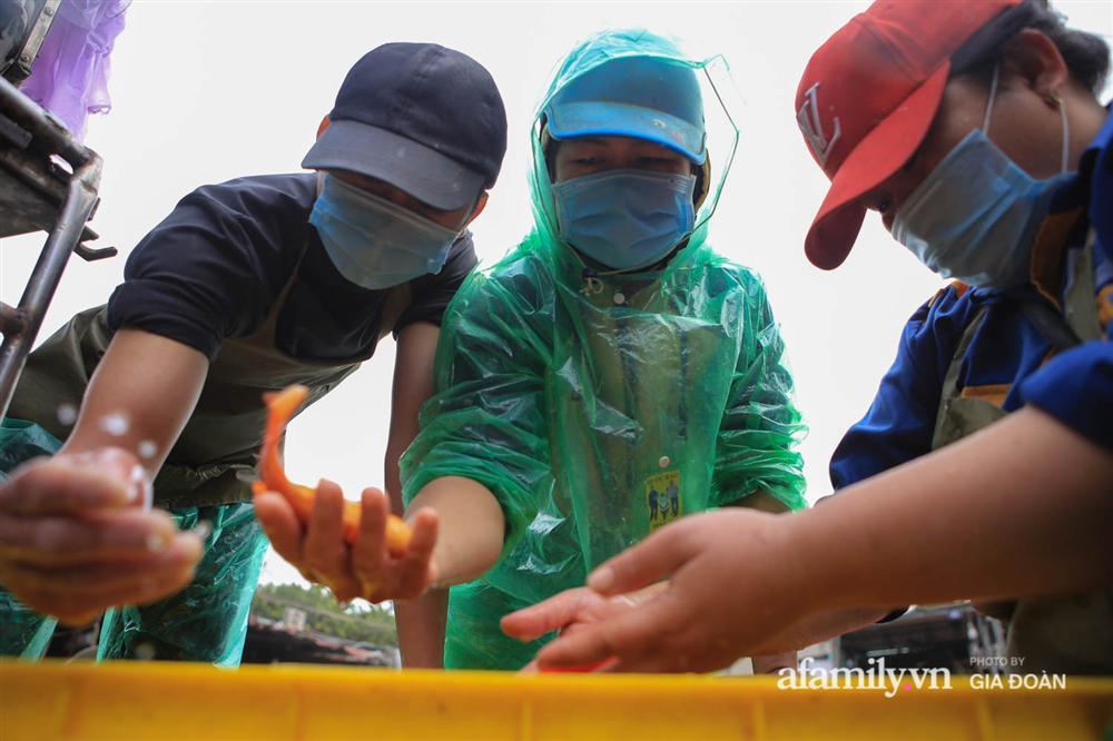 Chợ cá lớn nhất Hà Nội nhộn nhịp trước lễ ông Công ông Táo, dân buôn bở hơi tai vác cả tấn cá mỗi ngày nhưng không rời chiếc khẩu trang-13
