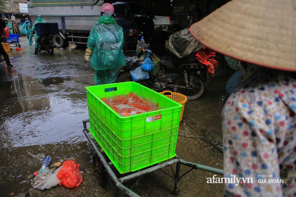 Chợ cá lớn nhất Hà Nội nhộn nhịp trước lễ ông Công ông Táo, dân buôn bở hơi tai vác cả tấn cá mỗi ngày nhưng không rời chiếc khẩu trang-18