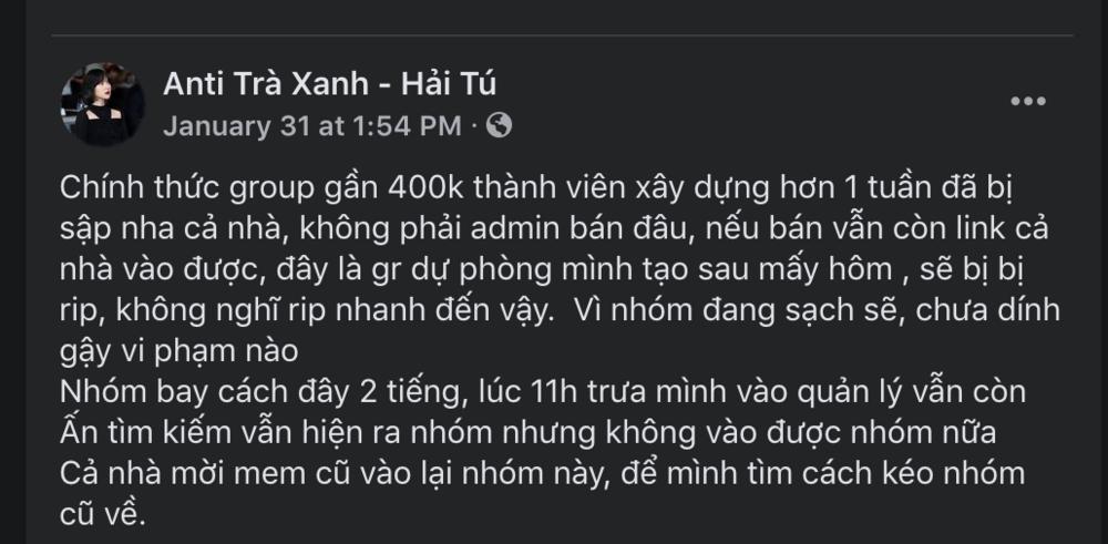 Group anti-fan Hải Tú 400K thành viên bay màu, loạt nhóm phụ mọc lên như nấm sau mưa-3
