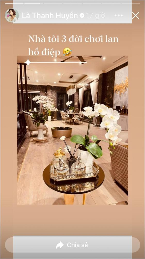 Sao Việt trang trí nhà cửa đón Tết: Lã Thanh Huyền 3 đời chơi lan Hồ Điệp, Thúy Hạnh thiết kế sânvườn đèn hoa lộng lẫy như nhà hàng Nhật-5