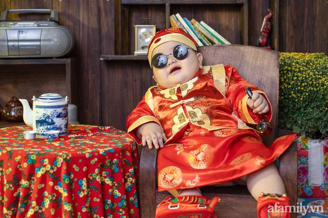 Bộ ảnh Tết của bé trai 1 tuổi gây sốt MXH vì đáng yêu phát hờn: Nhìn thôi đã thấy năm mới vui vẻ, khỏe mạnh, sung túc đủ đầy rồi!-3