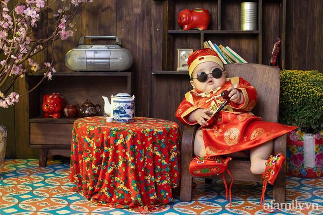 Bộ ảnh Tết của bé trai 1 tuổi gây sốt MXH vì đáng yêu phát hờn: Nhìn thôi đã thấy năm mới vui vẻ, khỏe mạnh, sung túc đủ đầy rồi!-6