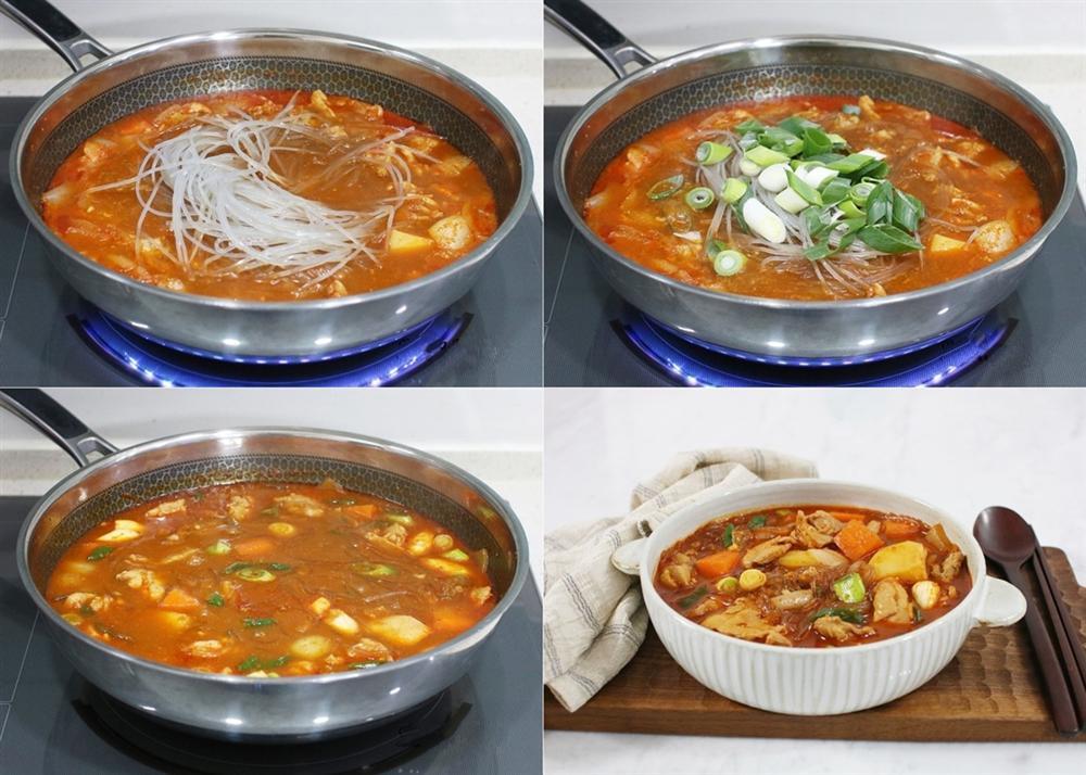 Gần Tết bận rộn, nấu nồi miến gà kiểu Hàn thì cả nhà có bữa ăn ngon lành lại nhanh gọn-4