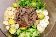 Mách chị em cách làm nộm thịt bò: Hương vị chua ngọt, ăn cùng phồng tôm thì hết ý!