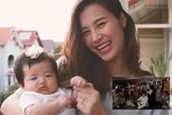 Con gái Đông Nhi gây thích thú với gương mặt 'không cảm xúc' khi mẹ chúc mừng sinh nhật bố Ông Cao Thắng