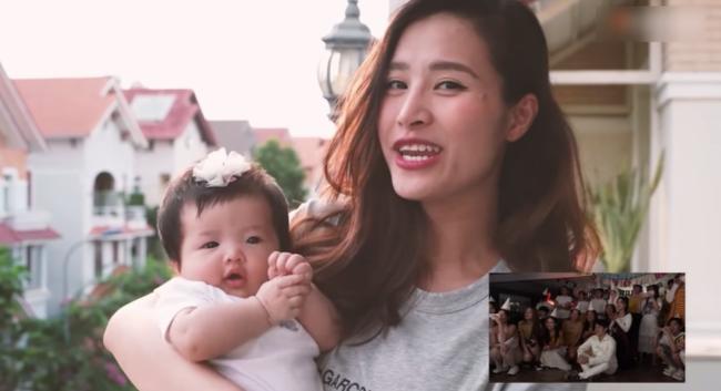 Con gái Đông Nhi gây thích thú với gương mặt không cảm xúc khi mẹ chúc mừng sinh nhật bố Ông Cao Thắng-3