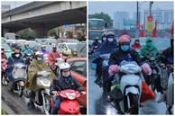 Ảnh: Người dân ùn ùn rời Hà Nội, đội mưa về quê ăn Tết, đường vành đai 3 tắc dài hàng km