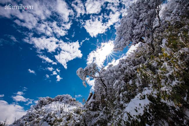 Du khách thích thú đổ xô lên đỉnh Fansipan đi bộ trên tuyết dưới ánh mặt trời ngày 29 Tết-11