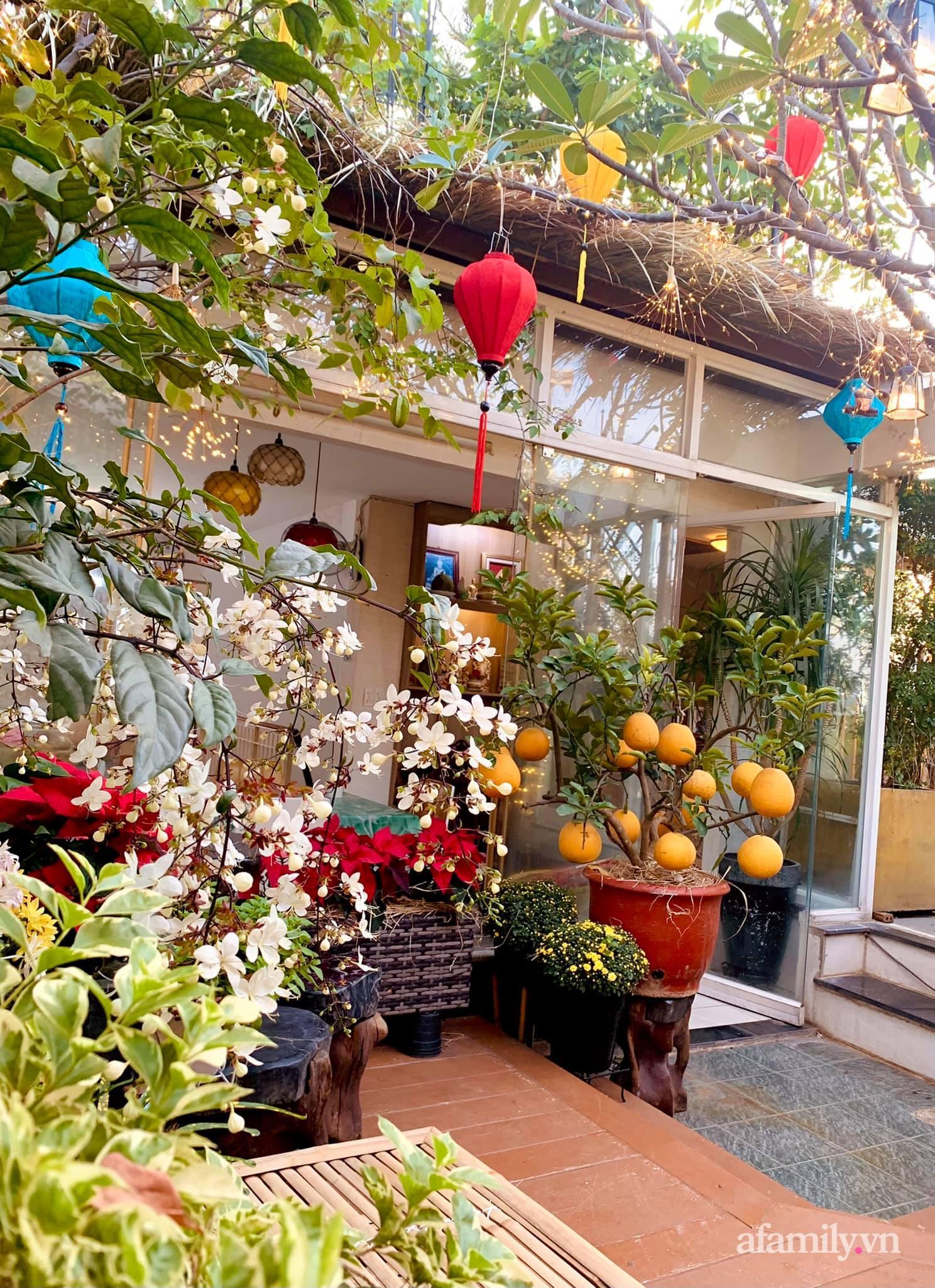 Mùng 1 đầu năm cùng ghé thăm sân thượng mang sắc màu Tết truyền thống của mẹ đảm ở Sài Gòn-6