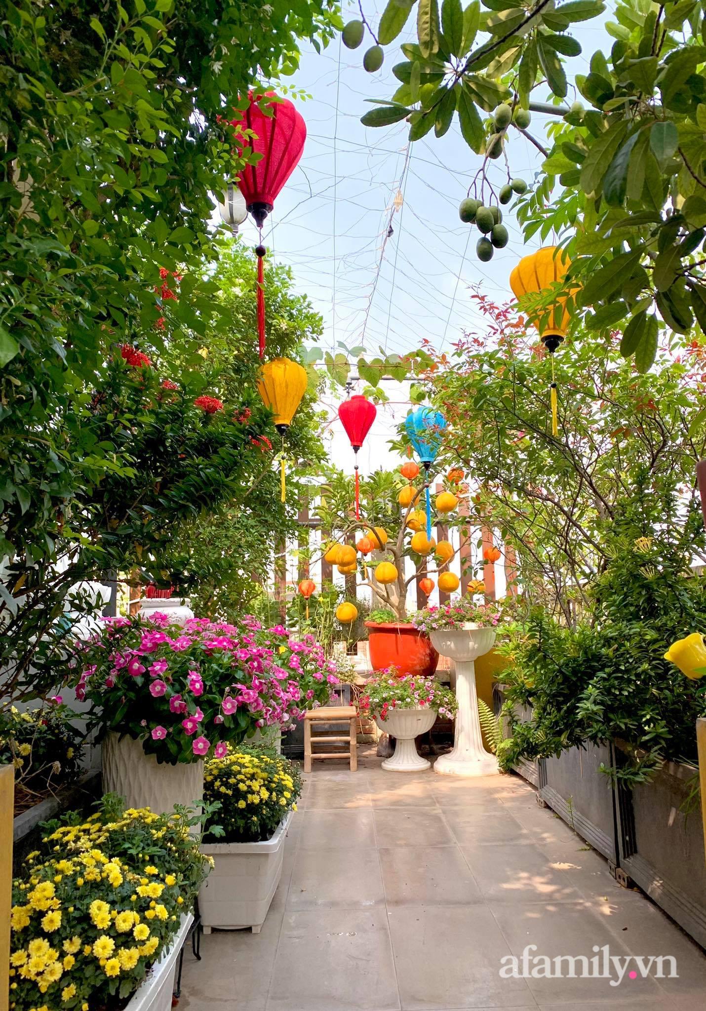 Mùng 1 đầu năm cùng ghé thăm sân thượng mang sắc màu Tết truyền thống của mẹ đảm ở Sài Gòn-5