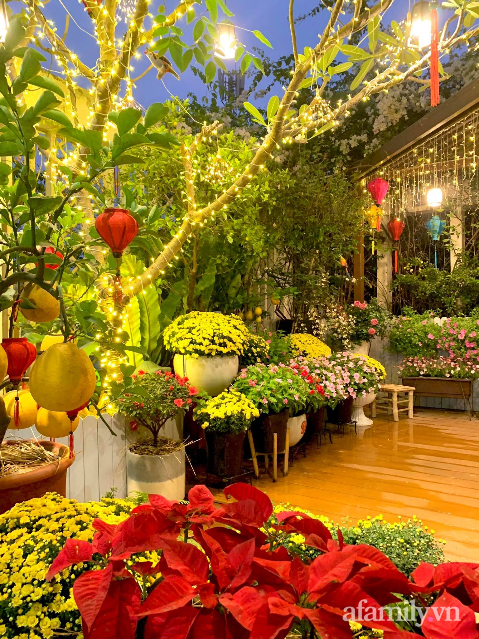 Mùng 1 đầu năm cùng ghé thăm sân thượng mang sắc màu Tết truyền thống của mẹ đảm ở Sài Gòn-8