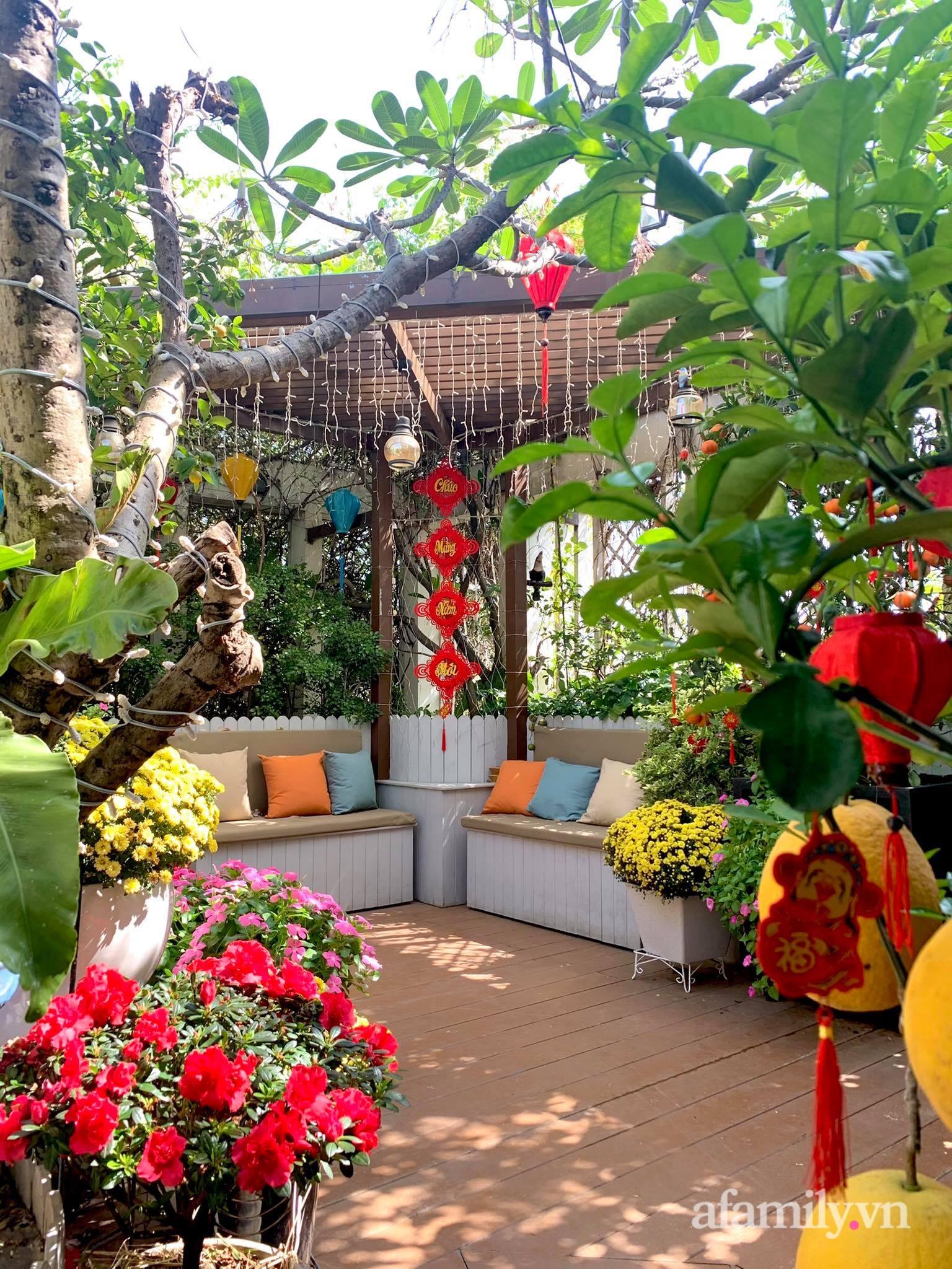 Mùng 1 đầu năm cùng ghé thăm sân thượng mang sắc màu Tết truyền thống của mẹ đảm ở Sài Gòn-9