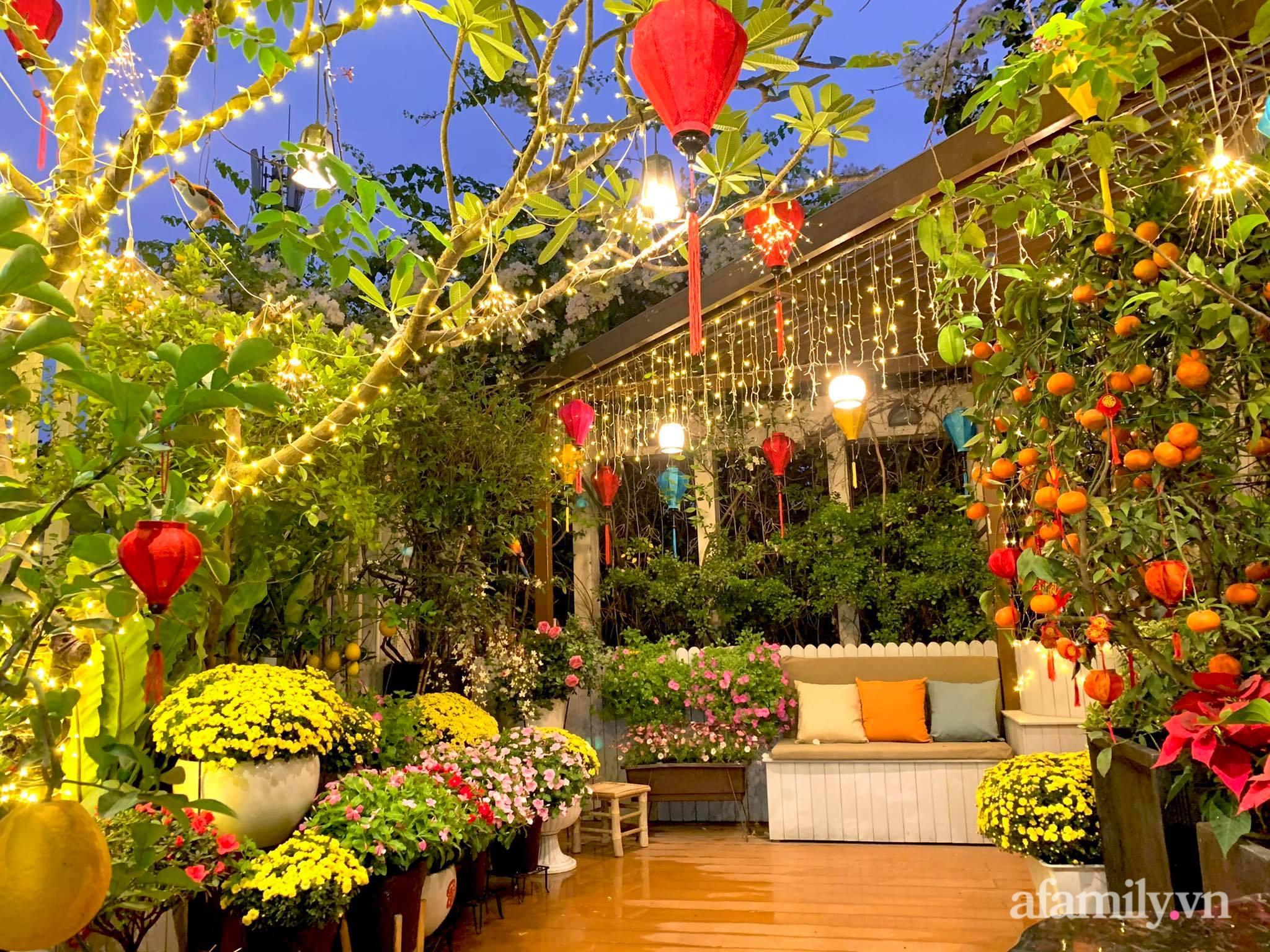 Mùng 1 đầu năm cùng ghé thăm sân thượng mang sắc màu Tết truyền thống của mẹ đảm ở Sài Gòn-3