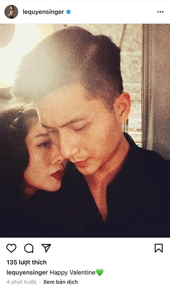 Đúng 0h ngày Valentine, Lệ Quyên tung ngay ảnh âu yếm tình trẻ kém 12 tuổi Lâm Bảo Châu và chàng đáp lại luôn-1