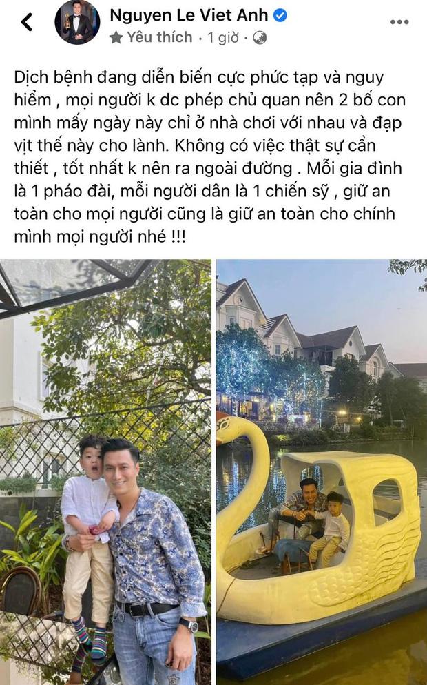 Việt Anh đăng ảnh đưa con trai đi chơi, vợ cũ liền vào nhắc nhở một câu đầy ẩn ý-1