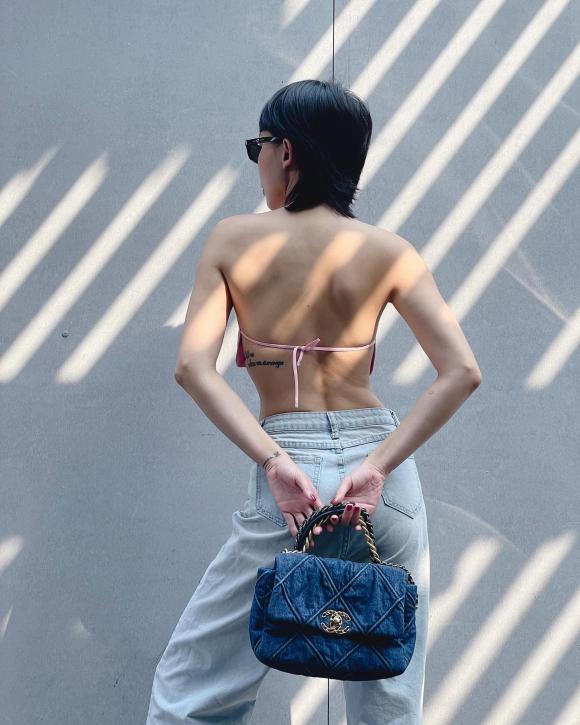 Tóc Tiên chơi lớn diện áo ren xuyên thấu lộ nội y-4