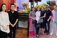 Lâm Vỹ Dạ, Phạm Quỳnh Anh và dàn sao tụ họp tại đền thờ tổ 100 tỷ đồng của NS Hoài Linh, chia sẻ gây xúc động về cố NS Chí Tài