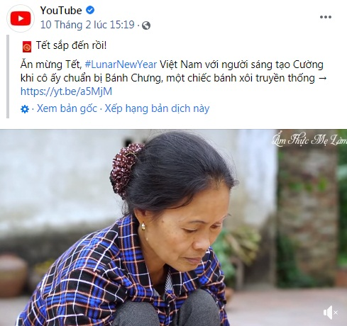 Tin vui đầu năm mới, video gói bánh chưng ngày Tết của Ẩm thực mẹ làm được Fanpage Youtube 100 triệu người theo dõi chia sẻ, giới thiệu đến toàn thế giới-1